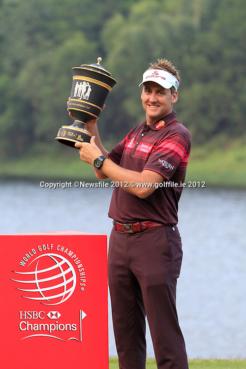 Ian Poulter (ENG) after winning on Day 4 of the 2012 HSBC Champions, Mission Hills Golf Club, Shenzhen, China. 4/11/12..(Photo www.golffile.ie)