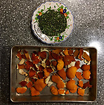 Day 4: self isolation/covid 19/2020. Dreary weather, rainy and cold, so it was a good day to work in the kitchen. Fermenting dates for yeast water to bake bread without yeast in a few days. Dried rosemary from the herb garden and dried orange peels for teas. Continued covid 19 updates, counties sheltering in place and global death counts rising. The long process of fermenting and drying herbs for the future coincides with continued isolation.