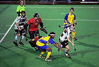 Southern v North Harbour men. 2019 National Hockey Under-18 Tournament at National Hockey Stadium in Wellington, New Zealand on Monday, 8 July 2019. Photo: Dave Lintott / lintottphoto.co.nz