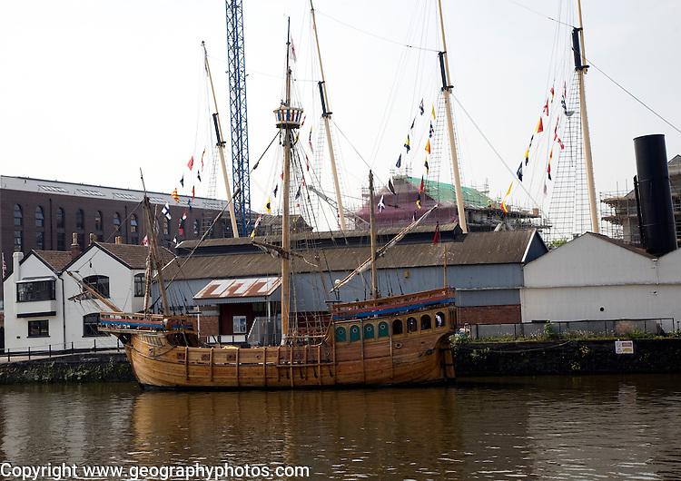 The Matthew wooden sailing ship, SS Great Britain maritime museum, Bristol, England