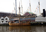 The Matthew wooden sailing ship, SS Great Britain maritime museum, Bristol, England