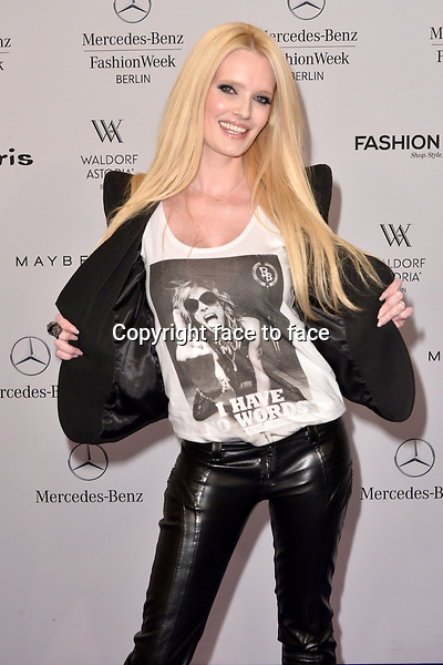 Mirja Du Mont (Model) attending the STYLIGHT Fashion Blogger Awards fashion show during the Mercedes-Benz Fashion Week Autumn/Winter 2013/14 Berlin in Berlin 13.01.2014. Credit Timm/face to face