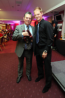 Pictured: Alan Tate (R). Wednesday 10 April 2013<br /> Re: Swansea footballer Angel Rangel and wife Nicky's cancer charity fundraising dinner at the Liberty Stadium.