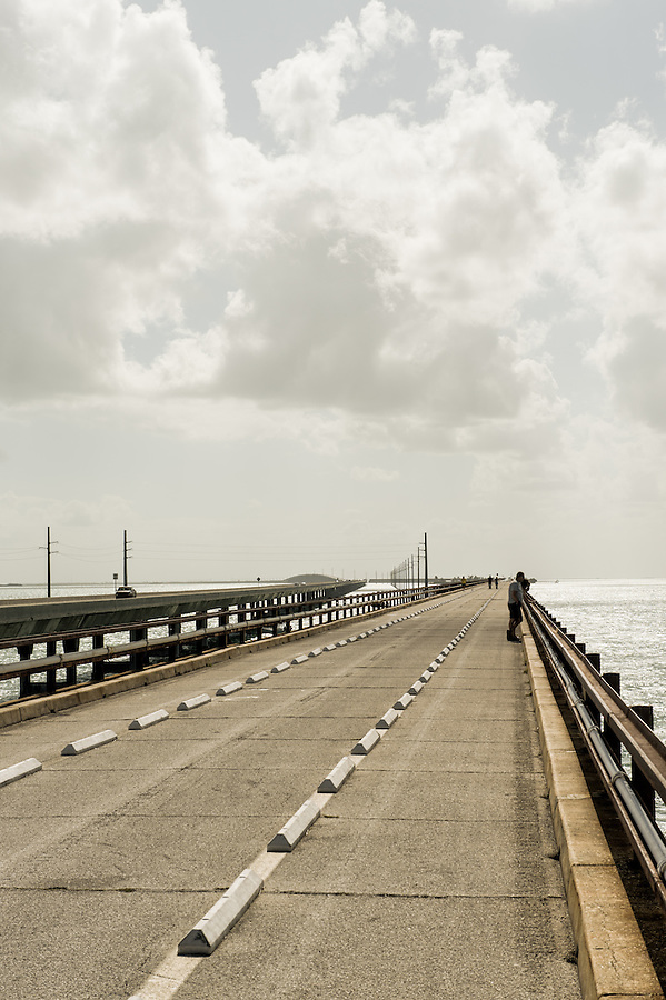 MARATHON, FL - CIRCA 2012: View of world famous 7 mile bridge in Marathon circa 2012. The Florida Keys are a very popular tourist destination with over 2 million yearly visitors.