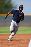 Cleveland Indians Jose Medina (33) during an instructional league game against the Los Angeles Dodgers on October 15, 2015 at the Goodyear Ballpark Complex in Goodyear, Arizona.  (Mike Janes/Four Seam Images)