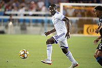 SAN JOSE,  - AUGUST 31: Benji Michel  #19 of the Orlando City SC during a game between Orlando City SC and San Jose Earthquakes at Avaya Stadium on September 1, 2019 in San Jose, .