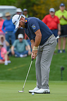 Graeme McDowell (NIR) sinks his putt on 1 during day 1 of the Valero Texas Open, at the TPC San Antonio Oaks Course, San Antonio, Texas, USA. 4/4/2019.<br /> Picture: Golffile | Ken Murray<br /> <br /> <br /> All photo usage must carry mandatory copyright credit (© Golffile | Ken Murray)