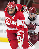 Kaleigh Fratkin (BU - 13), Mary Parker (Harvard - 15) - The Harvard University Crimson defeated the visiting Boston University Terriers 3-1 on Friday, November 22, 2013, at Bright-Landry Hockey Center in Cambridge, Massachusetts.