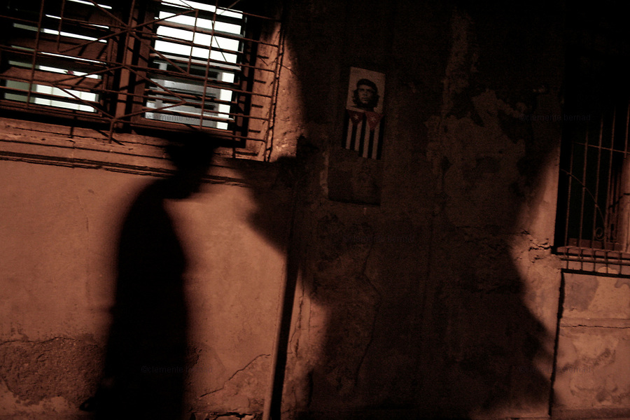 Havana (Cuba). September 2006..La Habana Vieja. Portrait of Ernesto Che Guevara...