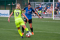 Kansas City, MO - Saturday June 17, 2017: Beverly Yanez, Yael Averbuch during a regular season National Women's Soccer League (NWSL) match between FC Kansas City and the Seattle Reign FC at Children's Mercy Victory Field.