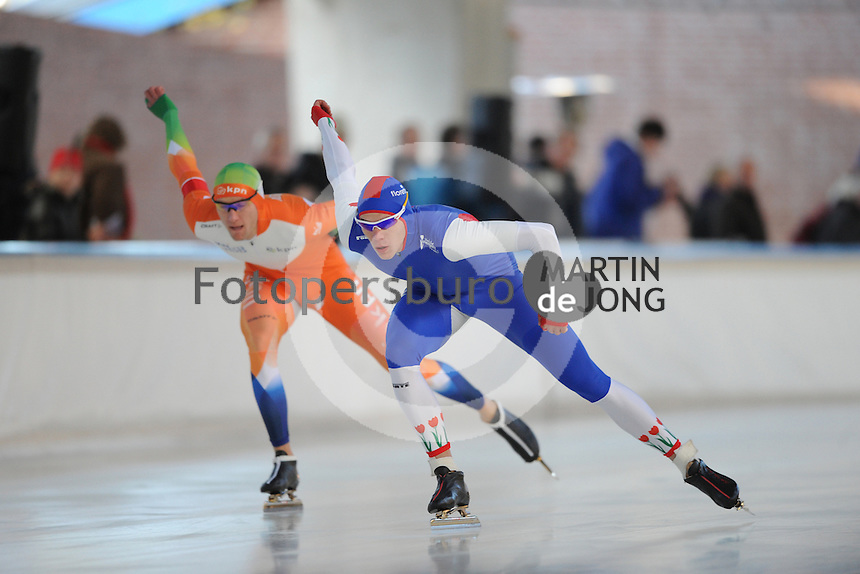 SCHAATSEN: DEVENTER: IJsbaan De Scheg, 27-10-12, IJsselcup, Thom van Beek, ©foto Martin de Jong