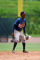 GCL Braves second baseman Jeremy Fernandez (14) during a game against the GCL Phillies on August 3, 2016 at the Carpenter Complex in Clearwater, Florida.  GCL Phillies defeated GCL Braves 4-3 in a rain shortened six inning game.  (Mike Janes/Four Seam Images)