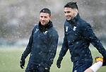 St Johnstone Training&hellip;22.01.19   McDiarmid Park<br />Michael O&rsquo;Halloran and Tony Watt pictured during a snowy training session this morning ahead of tomorrw night&rsquo;s game against Livingston.<br />Picture by Graeme Hart.<br />Copyright Perthshire Picture Agency<br />Tel: 01738 623350  Mobile: 07990 594431