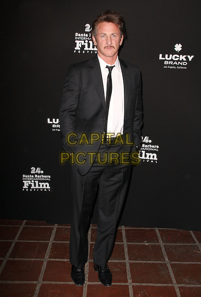 "SEAN PENN .""Santa Barbara International Film Festival"" The Lucky Brand Modern Master Award held at The Arlington Theatre, Santa Barbara, CA, USA, .29th January 2009..full length black suit tie white shirt grey gray .CAP/ADM/KB.©Kevan Brooks/Admedia/Capital PIctures"