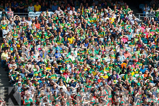 Kerry Supporters watch Kerry v Mayo in the All Ireland Semi Final Replay in Croke Park on Saturday.