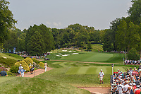 Satoshi Kodaira (JPN) and Tommy Fleetwood (ENG) head down 12 during 4th round of the 100th PGA Championship at Bellerive Country Club, St. Louis, Missouri. 8/12/2018.<br /> Picture: Golffile   Ken Murray<br /> <br /> All photo usage must carry mandatory copyright credit (© Golffile   Ken Murray)