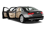 Rear three quarter door view of a 2013 Audi A8 L W12 4 Door Sedan 4WD