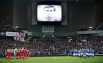 Rangers and Aberdeen pay their respects to Davie Provan