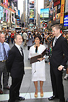 Glenn (brother to Kevin), As The World Turns' Colleen Zenk is ordained Universal Life Church minister who officiated the wedding of We Love Soaps Kevin Mulcahy Jr and Roger Newcomb on August 18, 2012 in Times Square, New York City, New York. (Photos by Sue Coflin/Max Photos)