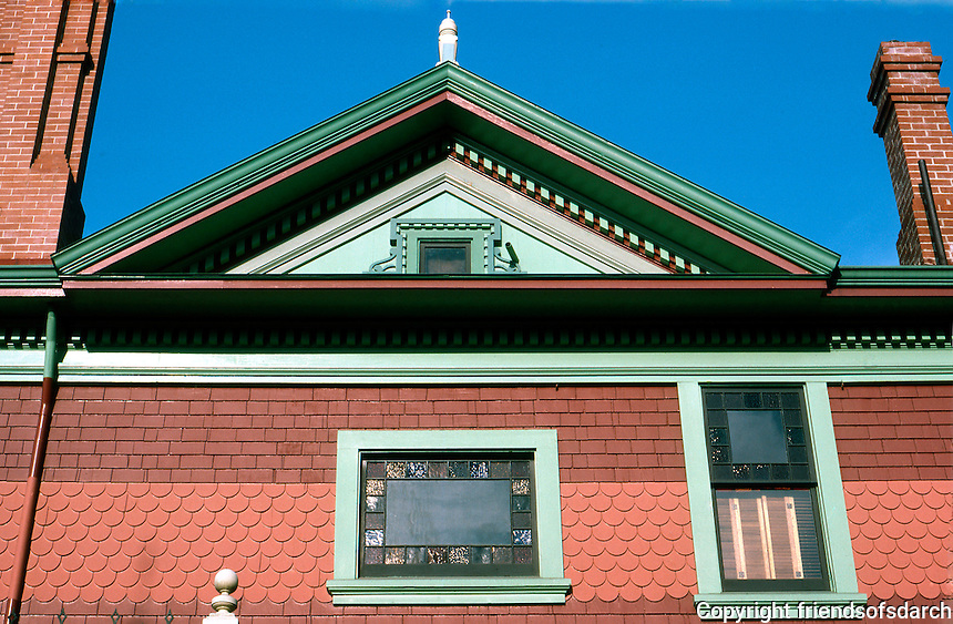 Los Angeles: Hale House, Detail of Upper Story.