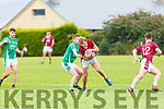 Donnchadh Walsh Cromane sheilds the ball from Paul Carroll Milltown during their Mid Kerry clash in Cromane on Saturday