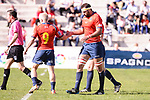 Spain's Iñaki Villanueva during Rugby Europe Championship 2017 match between Spain and Belgium in Madrid. March 18, 2017. (ALTERPHOTOS/Borja B.Hojas)