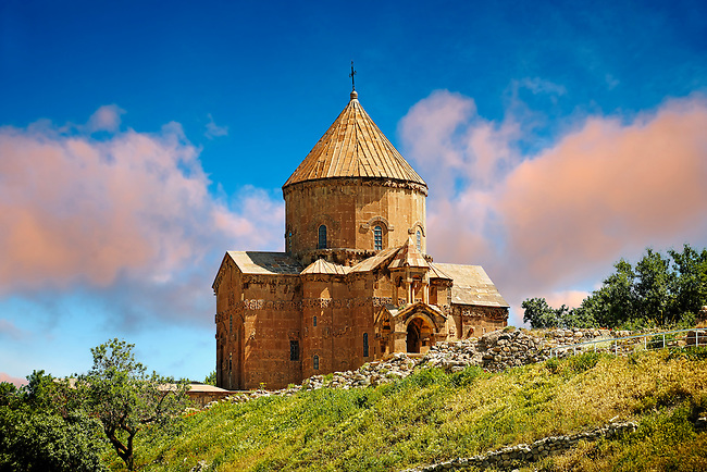 10th century Armenian Orthodox Cathedral of the Holy Cross on Akdamar Island, Lake Van Turkey 48