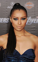 HOLLYWOOD, CA - APRIL 11: Kat Graham attends the World premiere of 'Marvel's Avengers' at the El Capitan Theatre on April 11, 2012 in Hollywood, California.