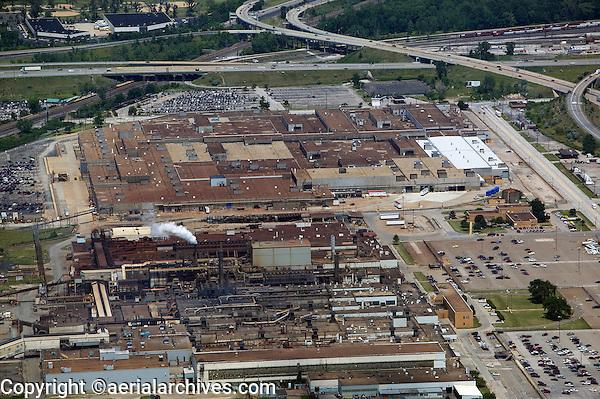 aerial view above Ford Motor Company Engine Plant No 1 Aluminum Casting Plant Brook Park Cleveland Ohio