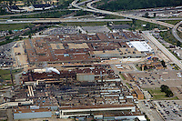 aerial view above Ford Motor Company Engine Plant No 1 Aluminum Casting Plant Brook Park Cleveland Ohio