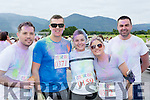 Mike credan, David Campbell, Helena Culhane, Patricia Fleming abd John Burns Rathmore  at the Killarney Colour Run in Killarney Racecourse on Saturday