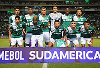 CALI - COLOMBIA - 13 - 07 - 2017: Los jugadores de Deportivo Cali de Colombia posan para una foto, durante partido de ida de la segunda fase llave 2 entre Deportivo Cali de Colombia y Atletico Junior de Colombia, por la Copa Conmebol Suramericana en el estadio Deportivo Cali (Palmaseca) de la ciudad de Cali. / The players Deportivo Cali of Colombia, pose for a photo, during a match for the first leg between Deportivo Cali of Colombia and Atletico Junior of Colombia, of the second phase key 2 for the Copa Conmebol Suramericana at the Deportivo Cali (Palmaseca) stadium in the city of Cali.  Photo: VizzorImage / Nelson Rios / Cont.