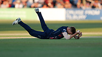 Fred Klaassen of Kent takes the catch of Aaron Finch off his own bowling during Kent Spitfires vs Surrey, Vitality Blast T20 Cricket at the St Lawrence Ground on 23rd August 2019