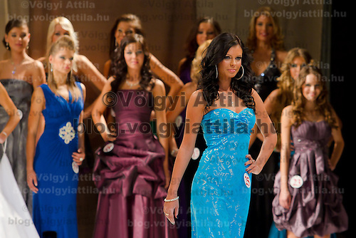 Agota Pocsai attends the Miss Hungary 2010 beauty contest held in Budapest, Hungary on November 29, 2010. ATTILA VOLGYI