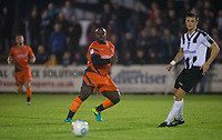 Adebayo Akinfenwa of Wycombe Wanderers plays a pass during the Pre Season Friendly match between Maidenhead United and Wycombe Wanderers at York Road, Maidenhead, England on 28 July 2017. Photo by Andy Rowland.