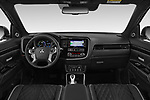 Stock photo of straight dashboard view of a 2018 Mitsubishi Outlander PHEV Instyle 5 Door SUV