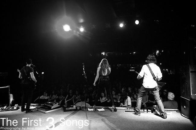 Josh Smith, Lzzy Hale, and Joe Hottinger of Halestorm perform at Bogarts in Cincinnati, Ohio.