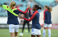 Jacksonville, FL - Thursday April 5, 2018: Crystal Dunn during an International friendly match versus the women's National teams of the United States (USA) and Mexico (MEX) at EverBank Field.