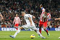 Pepe and Radamel Falcao during La Liga Match. December 01, 2012. (ALTERPHOTOS/Caro Marin)
