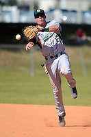 Slippery Rock second baseman Graeme Zaparzynski (16) during a game against the Wayne State Warriors on March 15, 2013 at Chain of Lakes Park in Winter Haven, Florida.  (Mike Janes/Four Seam Images)