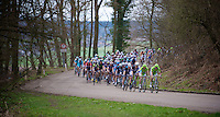 48th Amstel Gold Race 2013..peloton storming down