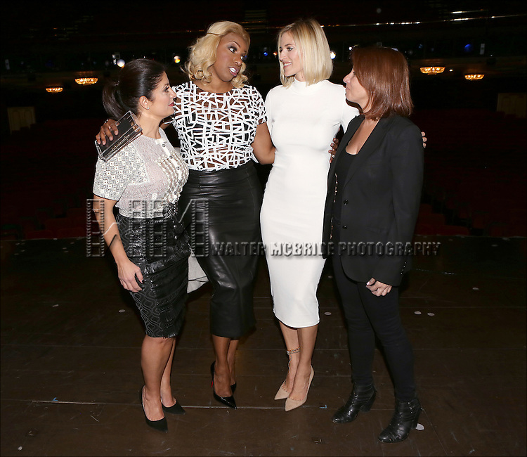 """Kathy Wakile, NeNe Leakes, Jill Zarin and Kristen Taekman backstage after NeNe's Broadway Debut Performance  in """"Rodgers + Hammerstein's Cinderella""""  at The Broadway Theatre on November 25, 2014 in New York City."""