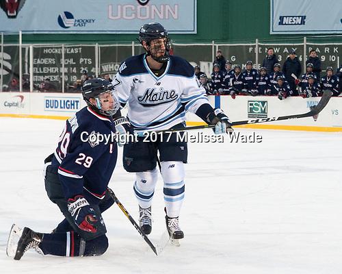 Tage Thompson (UConn - 29), Mark Hamilton (Maine - 47) - The University of Maine Black Bears defeated the University of Connecticut Huskies 4-0 at Fenway Park on Saturday, January 14, 2017, in Boston, Massachusetts.