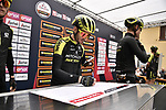 Adam Yates (GBR) Mitchelton-Scott at sign on before the start of the world's oldest classic the 100th edition of Milano-Torino running 179km from Magenta to the Basilica at Superga in Turin, Italy. 9th Octobre 2019. <br /> Picture: Marco Alpozzi/LaPresse | Cyclefile<br /> <br /> All photos usage must carry mandatory copyright credit (© Cyclefile | LaPresse/Marco Alpozzi)