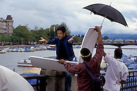 Actor Tusshar Kapoor at the shooting set of the Bollywood film ''Live only for you''Jeena Sirf Merre Liye'' next to the Limmat river in Zurich, Switzerland.
