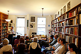 USA, California, San Francisco, author Adam Ross reads from his recent novel at City Lights Bookstore, North Beach