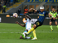 Lorenzo Insigne  of Inter and Kalidou Koulibaly  of SSC Napoli  during the  italian serie a soccer match,between Inter FC  and SSC Napoli      at  the San Siro   stadium in Milan  Italy , April  30, 2017