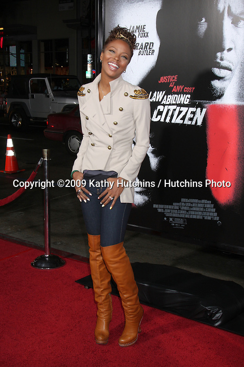 Eva Marcille.arriving at the Law Abiding Citizen Premiere.Grauman's Chinese Theater.Los Angeles,  CA.October 6,  2009.©2009 Kathy Hutchins / Hutchins Photo.