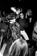 New York City, 1967. Regine Zylberberg, manager of many successful night clubs around the world, dances at Trude Heller's corner of 9th Street and 6th Avenue.