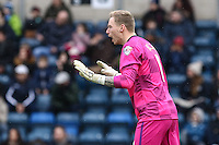 Ryan Allsop of Wycombe Wanderers during the Sky Bet League 2 match between Wycombe Wanderers and Luton Town at Adams Park, High Wycombe, England on 6 February 2016. Photo by David Horn.